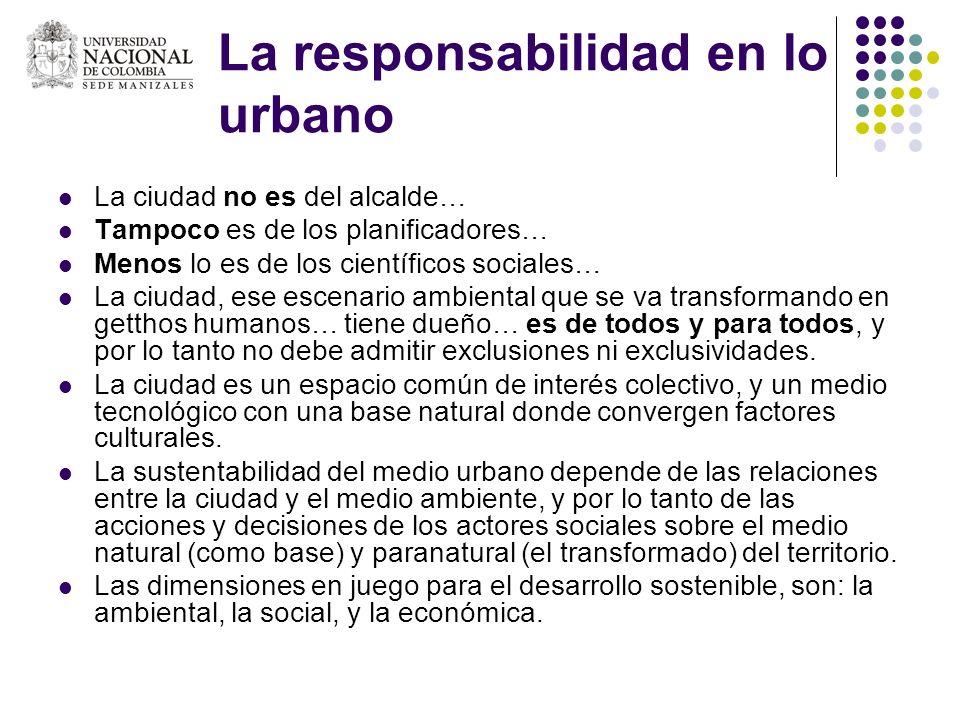 La responsabilidad en lo urbano