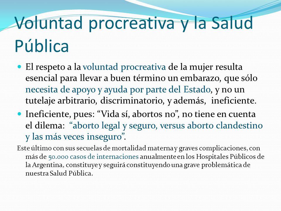 Voluntad procreativa y la Salud Pública