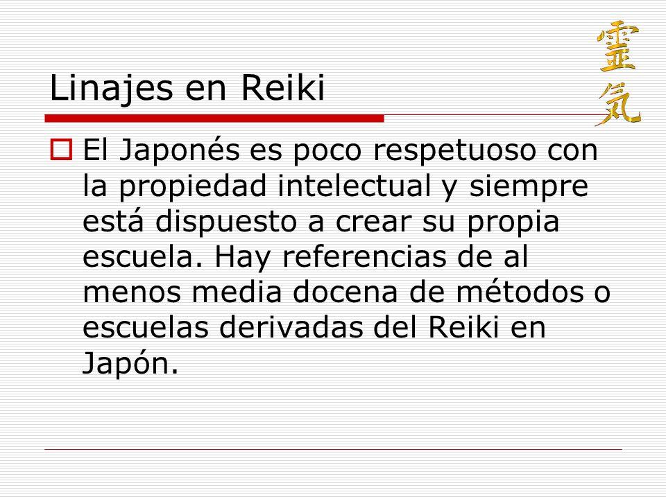 Linajes en Reiki