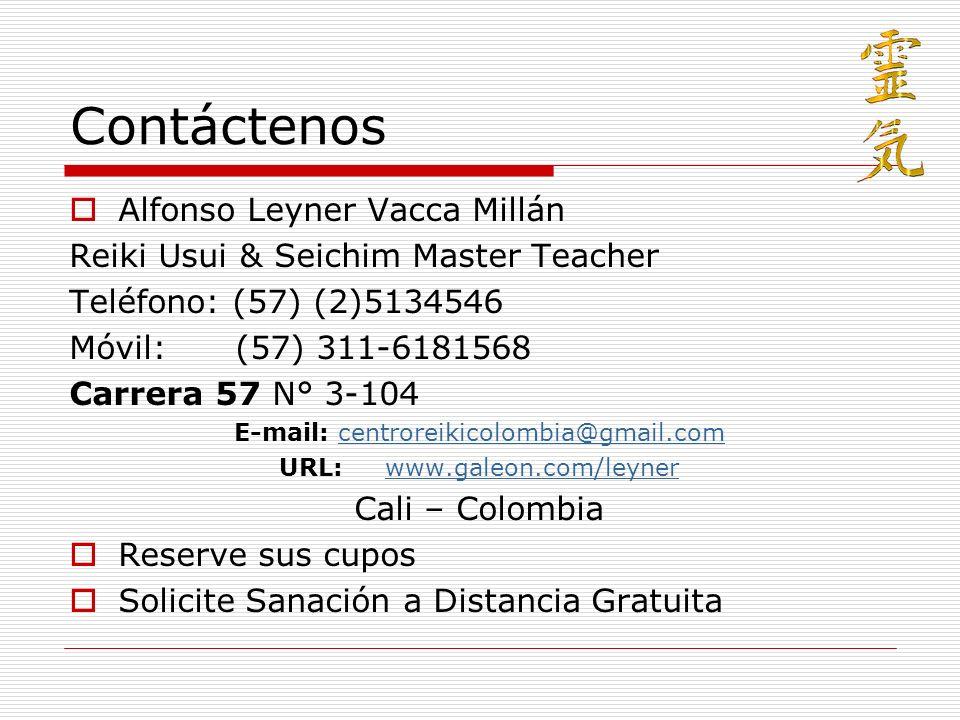 Contáctenos Alfonso Leyner Vacca Millán