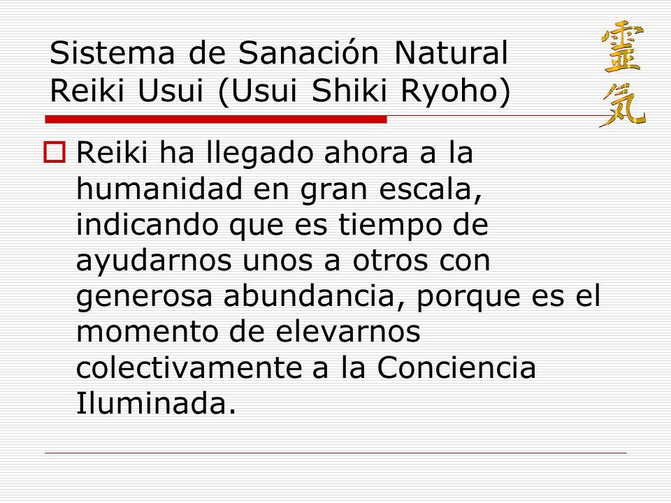 Sistema de Sanación Natural Reiki Usui (Usui Shiki Ryoho)