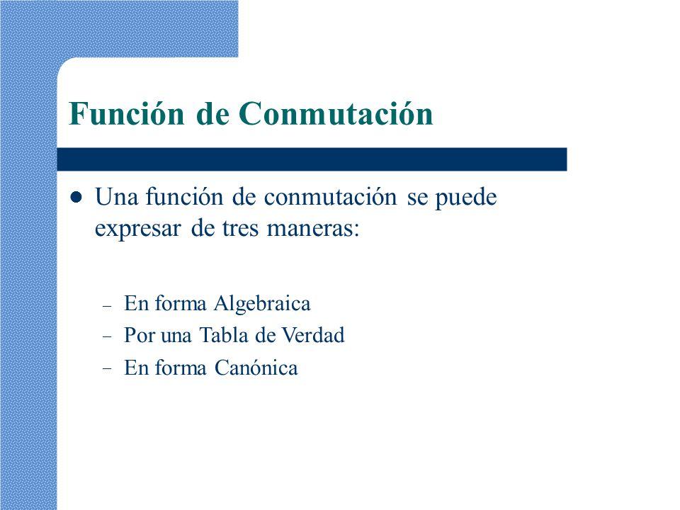 Función de Conmutación