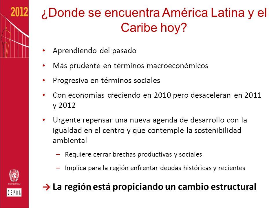 ¿Donde se encuentra América Latina y el Caribe hoy