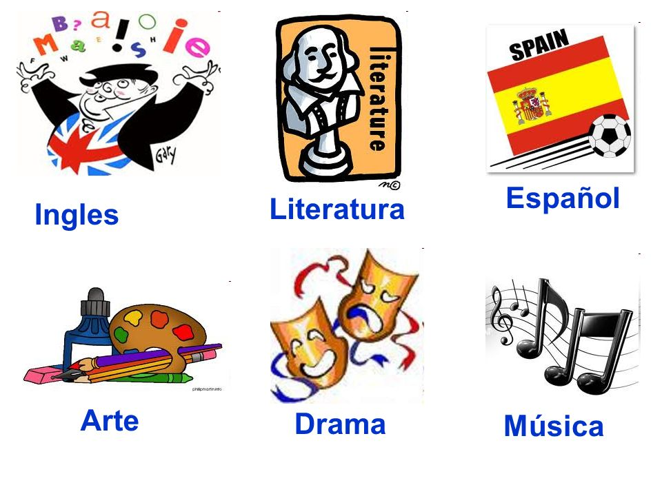 Español Literatura Ingles Arte Drama Música