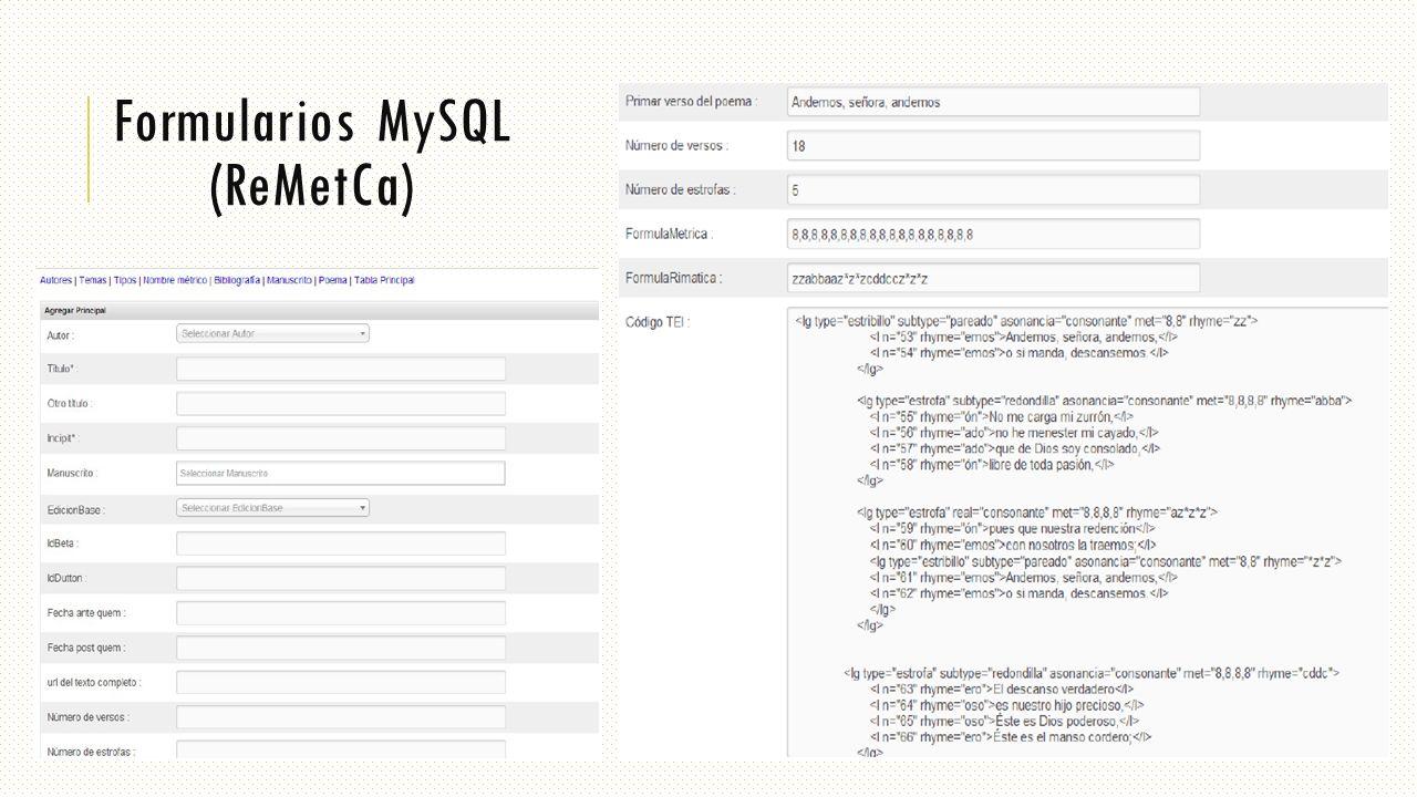 Formularios MySQL (ReMetCa)