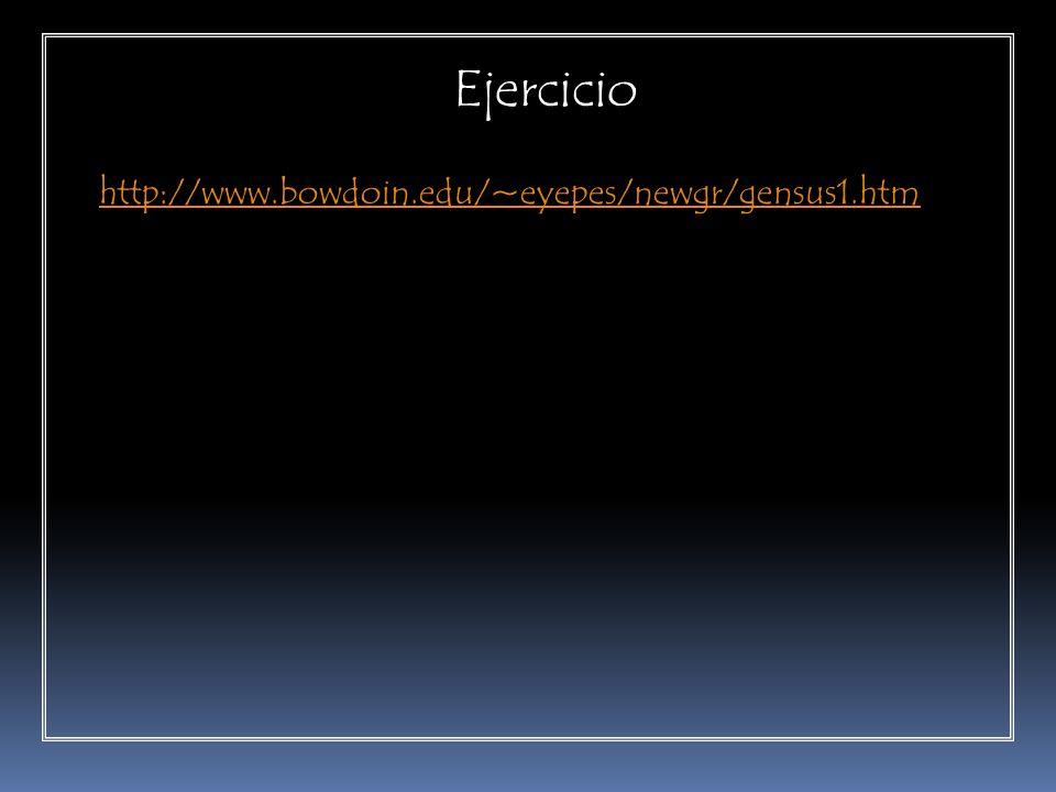 Ejercicio http://www.bowdoin.edu/~eyepes/newgr/gensus1.htm