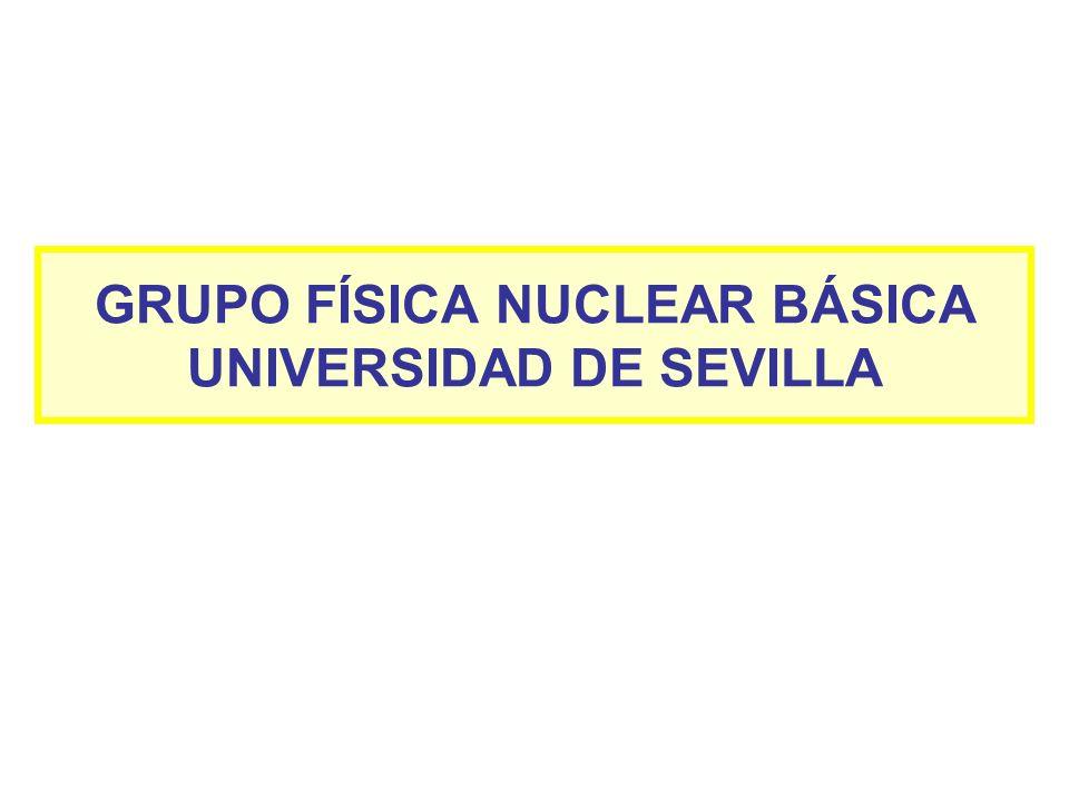 GRUPO FÍSICA NUCLEAR BÁSICA UNIVERSIDAD DE SEVILLA