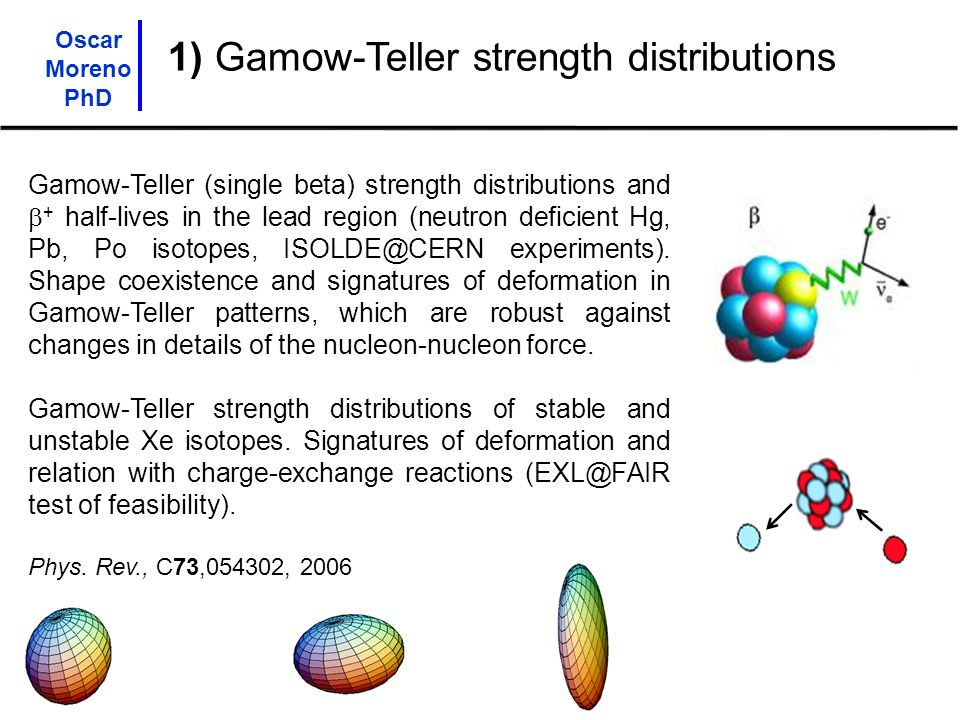 1) Gamow-Teller strength distributions