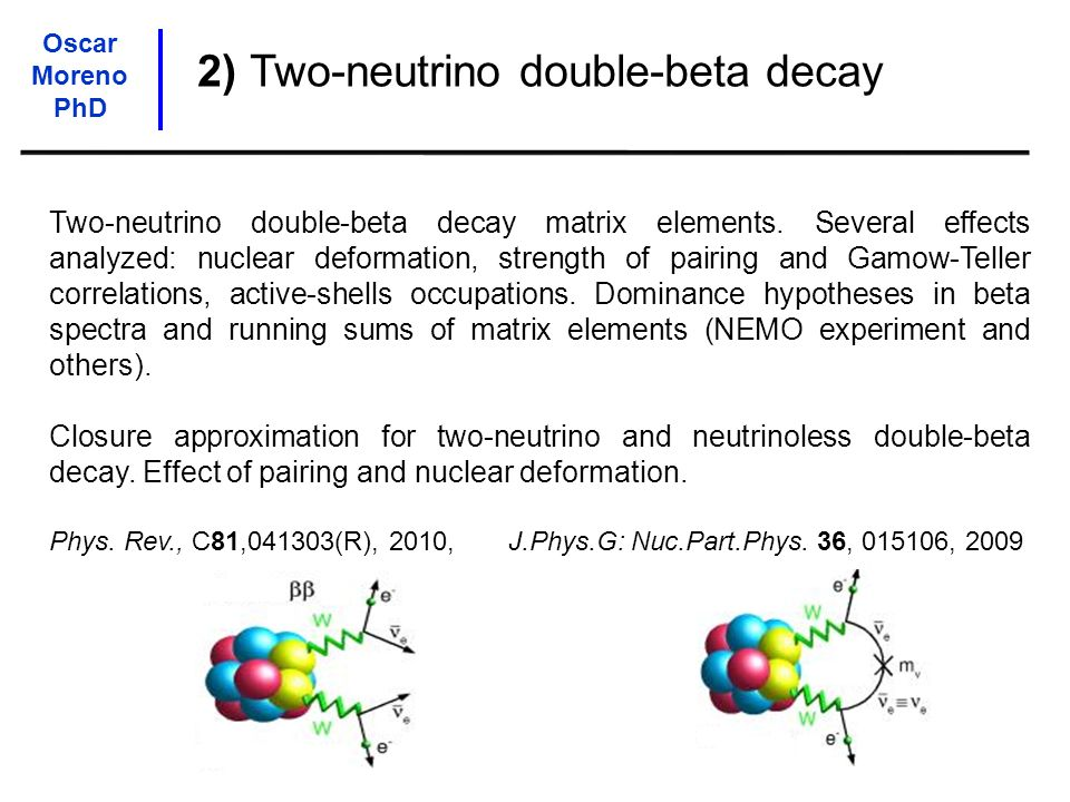 2) Two-neutrino double-beta decay
