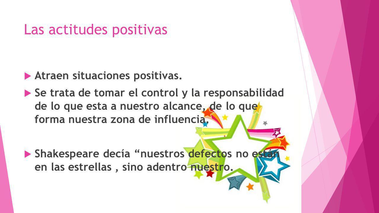 Las actitudes positivas