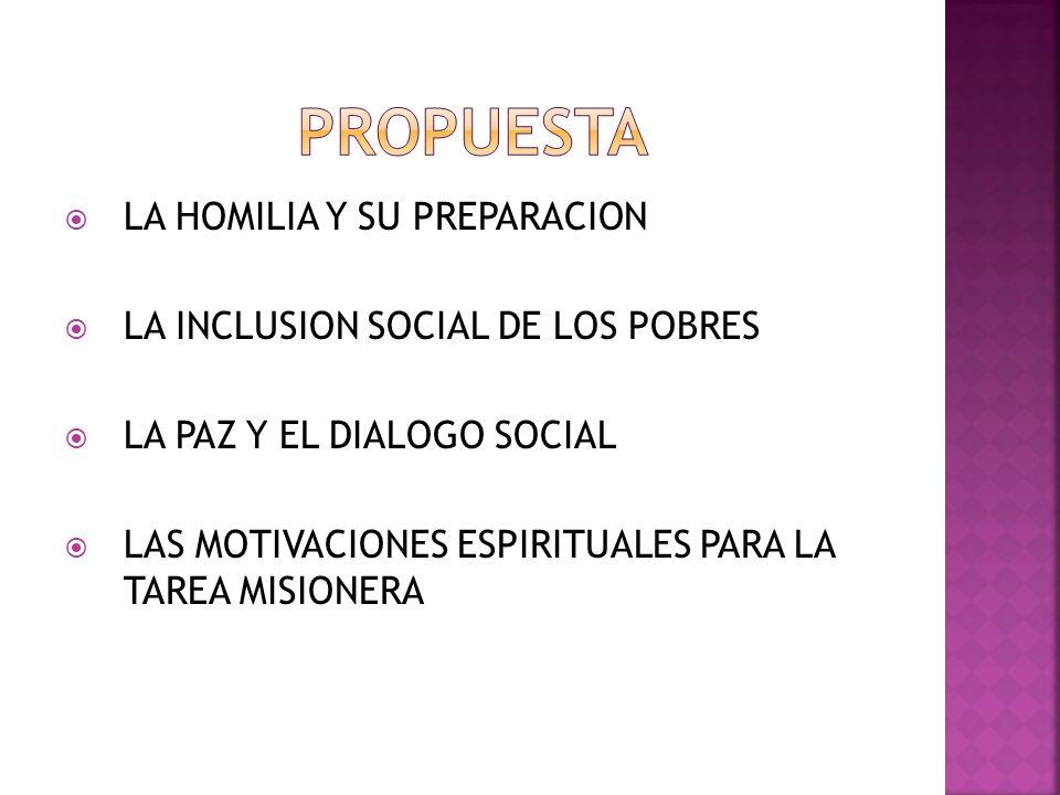 PROPUESTA LA HOMILIA Y SU PREPARACION