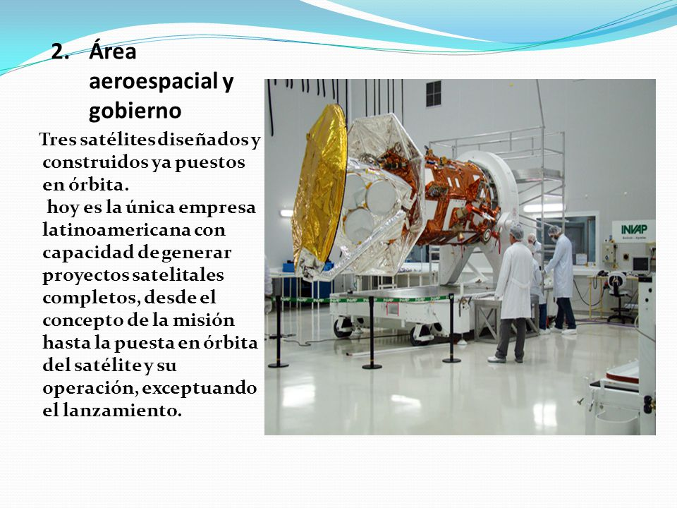 Área aeroespacial y gobierno