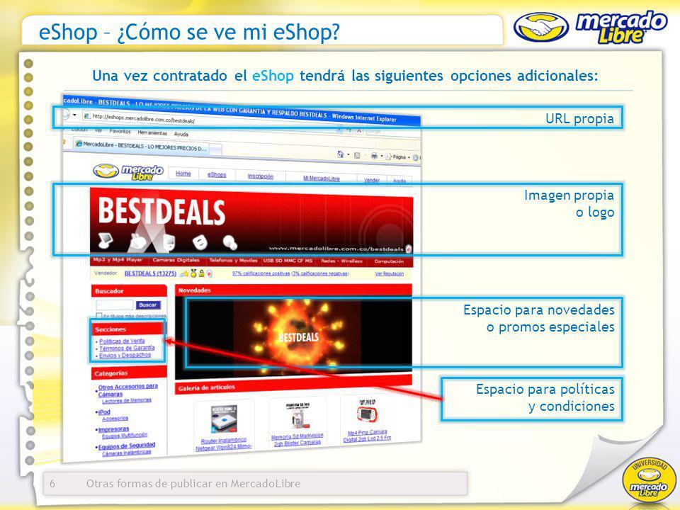eShop – ¿Cómo se ve mi eShop