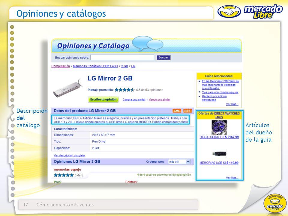 Opiniones y catálogos Descripción del catálogo Artículos del dueño