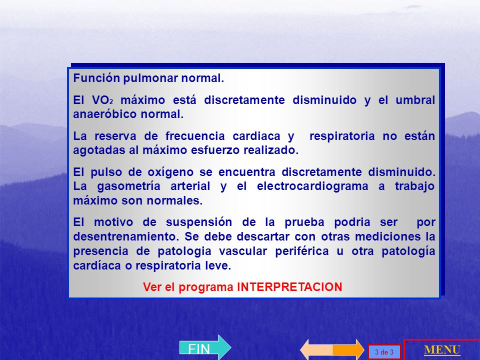 FIN Función pulmonar normal.