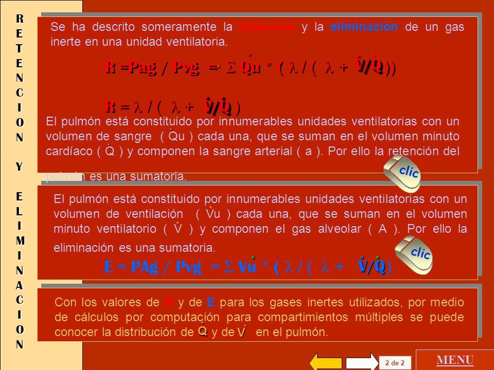 R =Pag / Pvg = S Qu * ( l / ( l + )) R = l / ( l + ) V/Q .