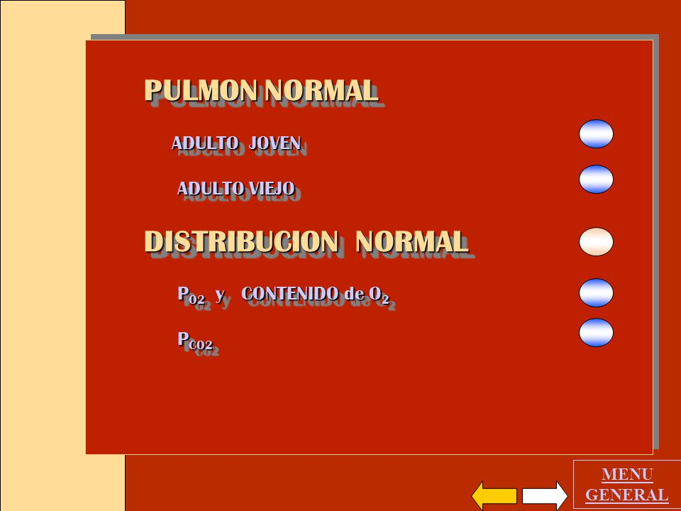 PULMON NORMAL DISTRIBUCION NORMAL ADULTO JOVEN ADULTO VIEJO