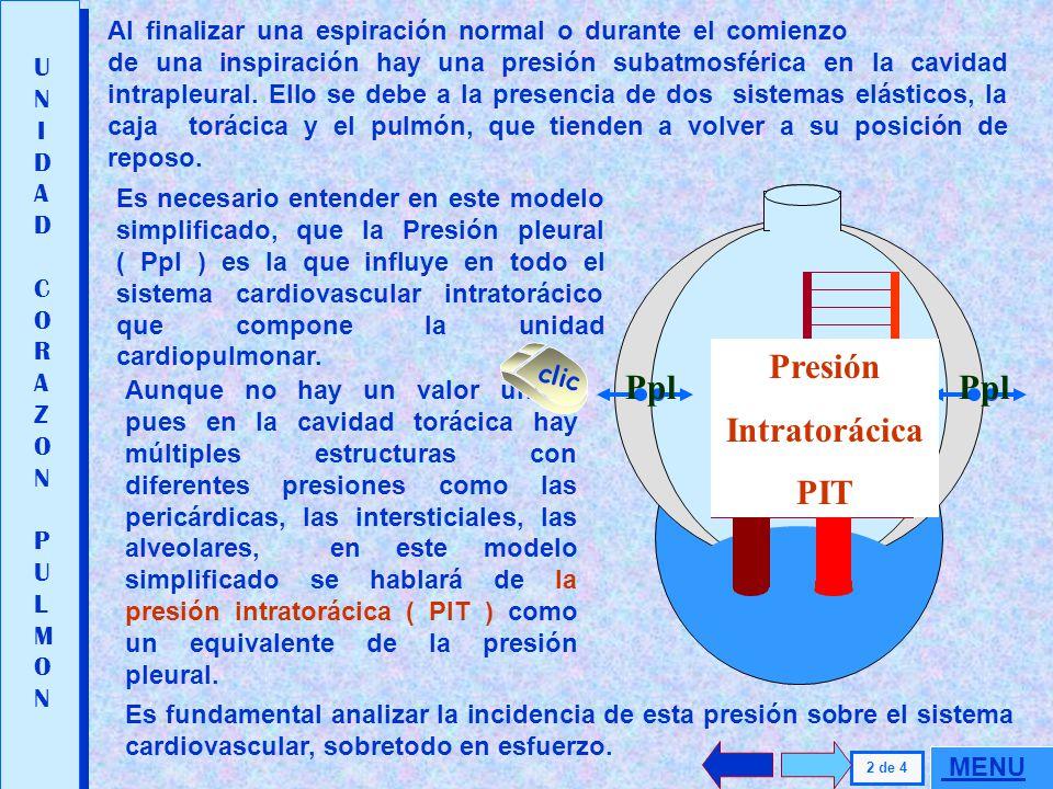 Presión Intratorácica PIT Presión Pericárdica