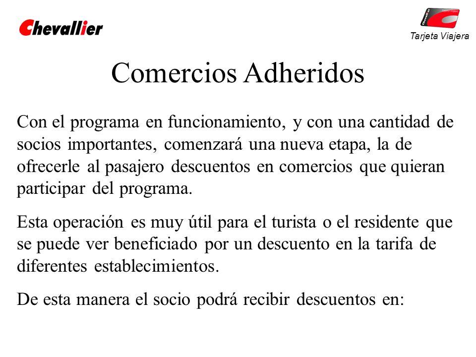 Tarjeta Viajera Comercios Adheridos.