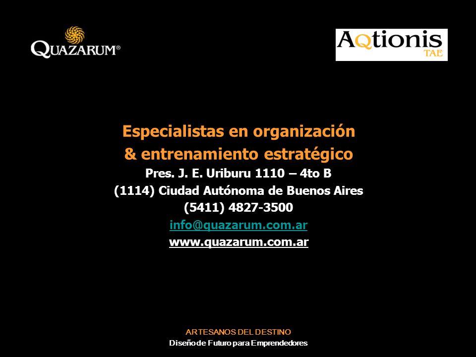 Especialistas en organización & entrenamiento estratégico
