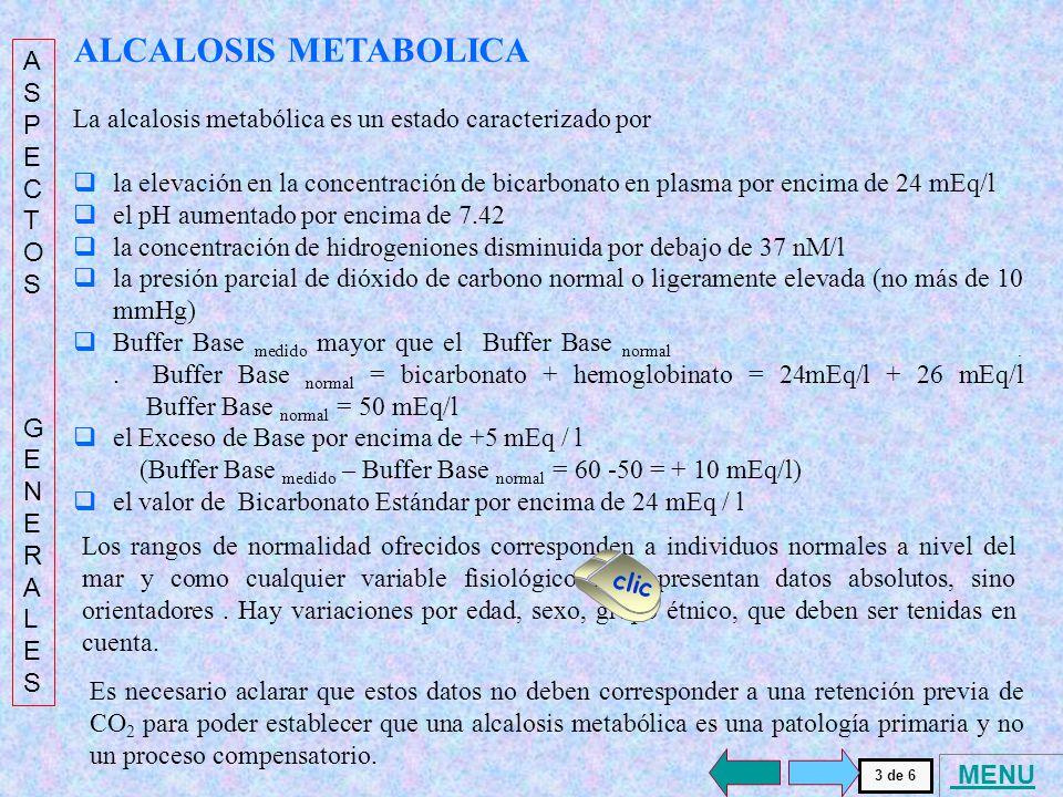 ALCALOSIS METABOLICA . ASPECTOS