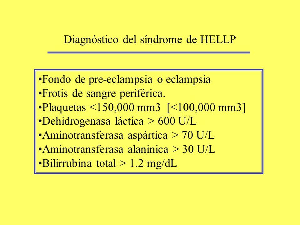 Diagnóstico del síndrome de HELLP