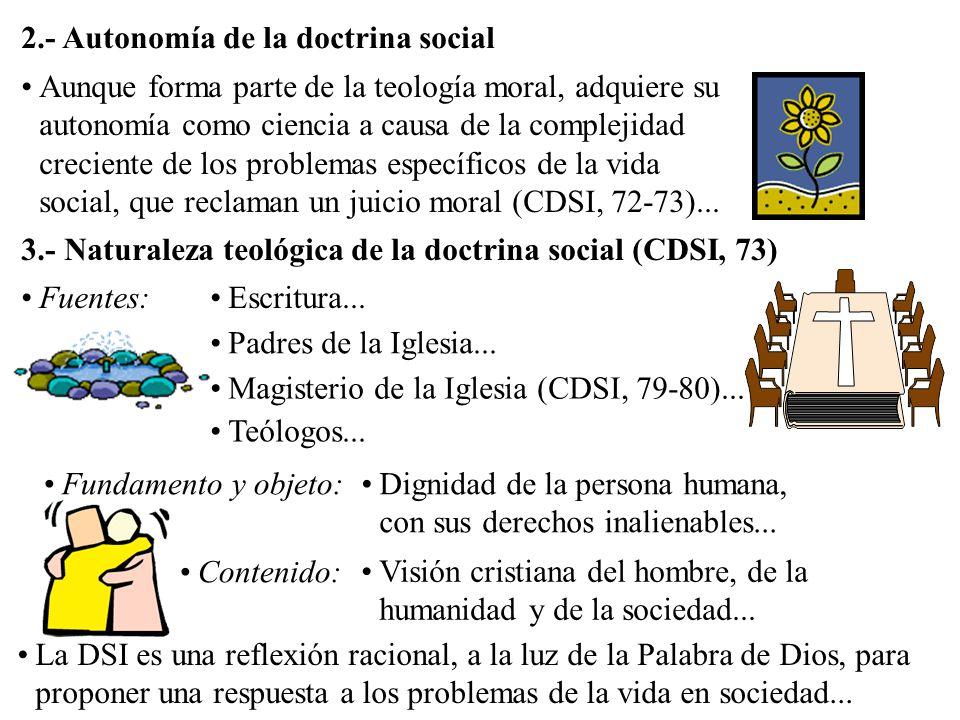 2.- Autonomía de la doctrina social
