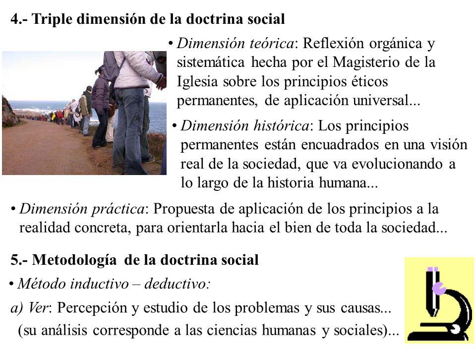 4.- Triple dimensión de la doctrina social