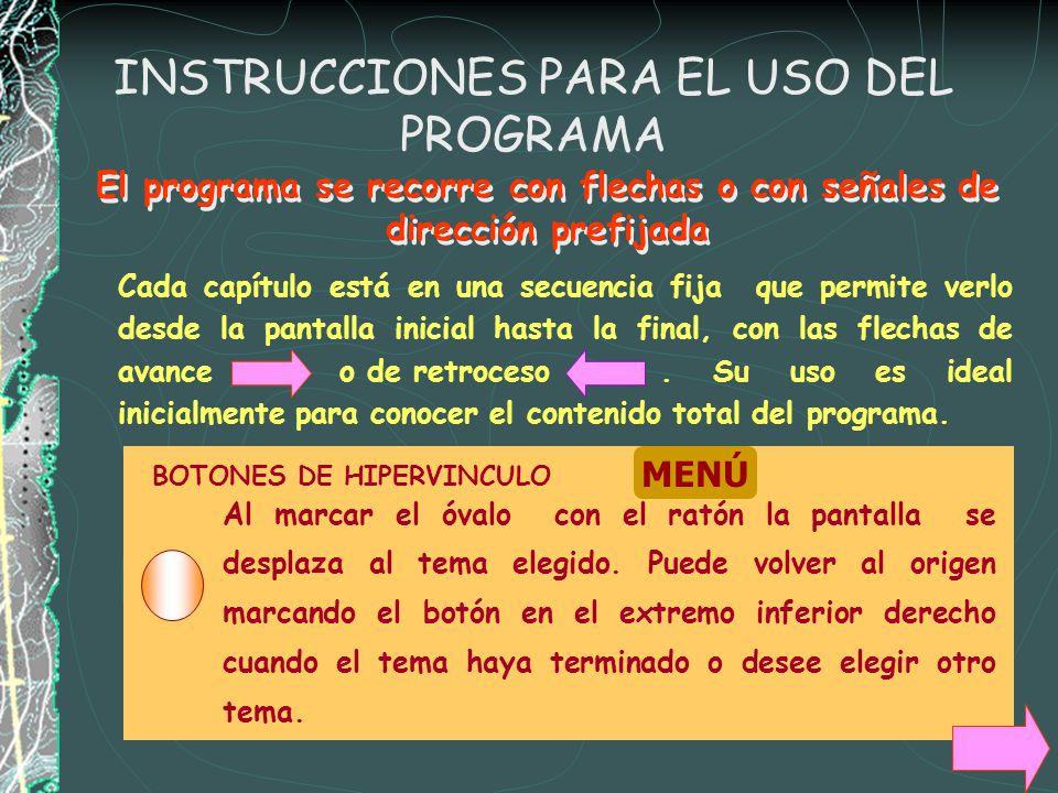 INSTRUCCIONES PARA EL USO DEL PROGRAMA