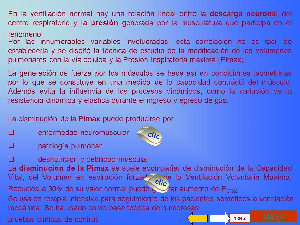 La disminución de la Pimax puede producirse por