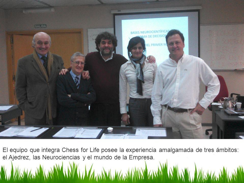El equipo que integra Chess for Life posee la experiencia amalgamada de tres ámbitos: el Ajedrez, las Neurociencias y el mundo de la Empresa.