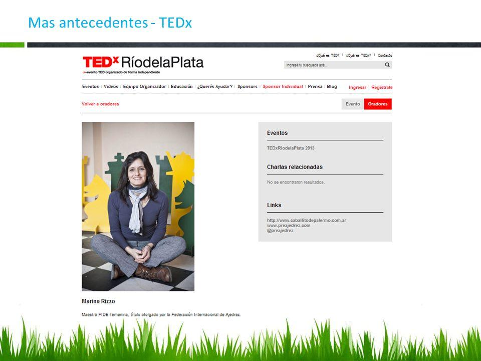 Mas antecedentes - TEDx
