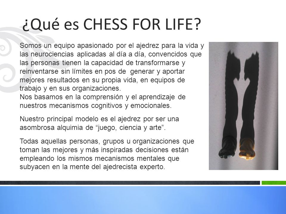 ¿Qué es CHESS FOR LIFE