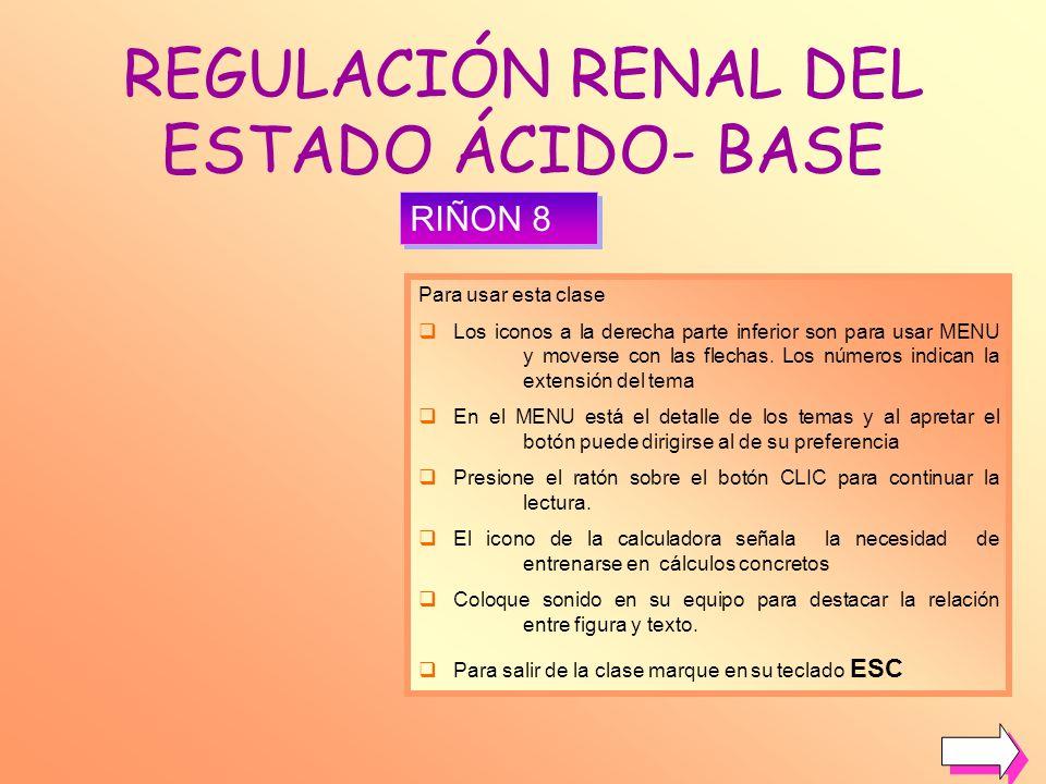 REGULACIÓN RENAL DEL ESTADO ÁCIDO- BASE