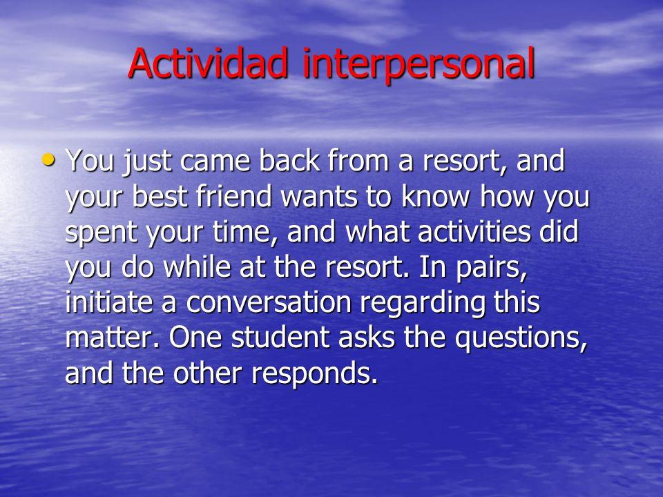 Actividad interpersonal
