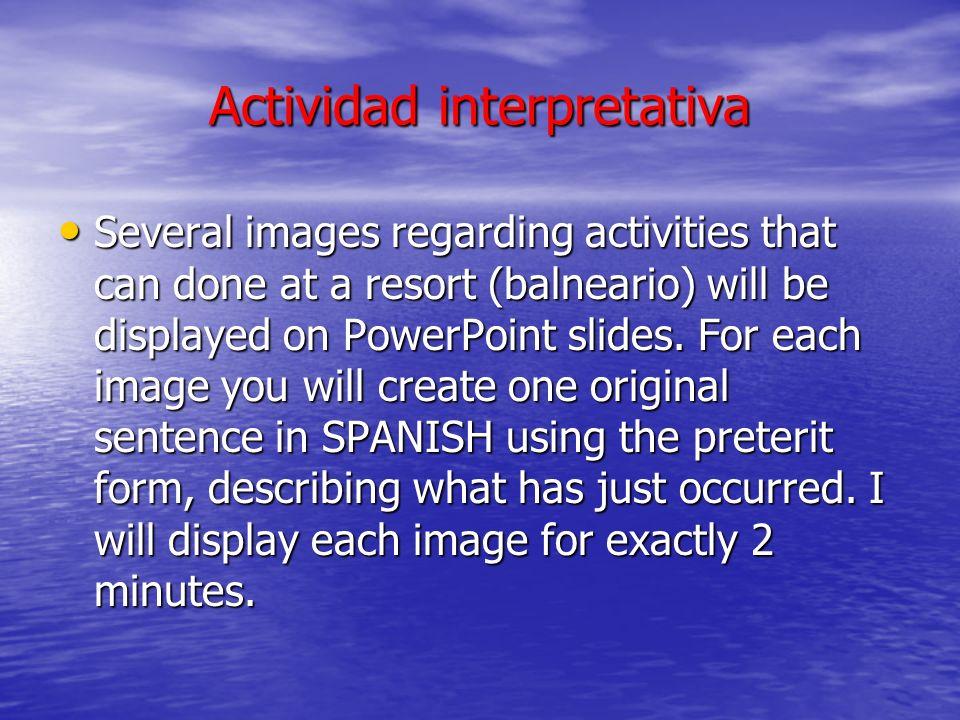 Actividad interpretativa