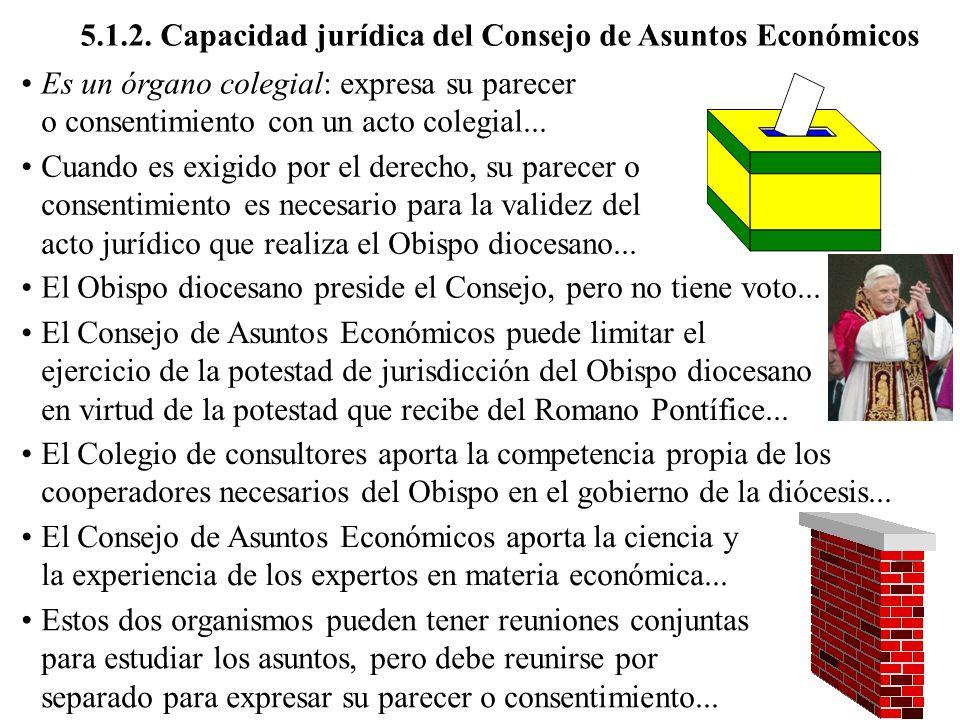 5.1.2. Capacidad jurídica del Consejo de Asuntos Económicos