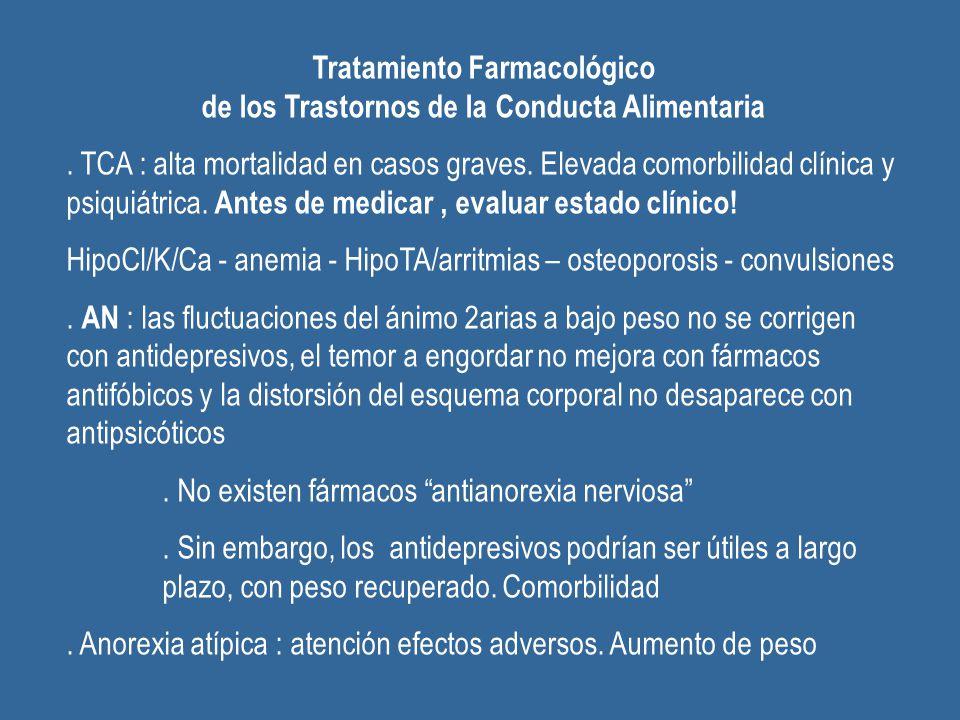 Tratamiento Farmacológico de los Trastornos de la Conducta Alimentaria