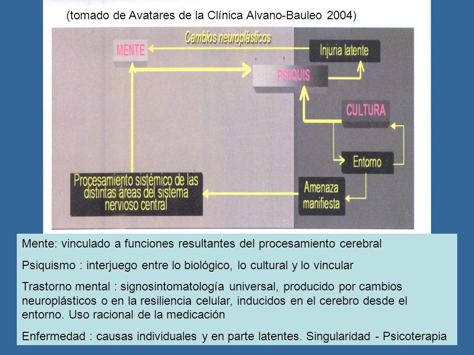 (tomado de Avatares de la Clínica Alvano-Bauleo 2004)