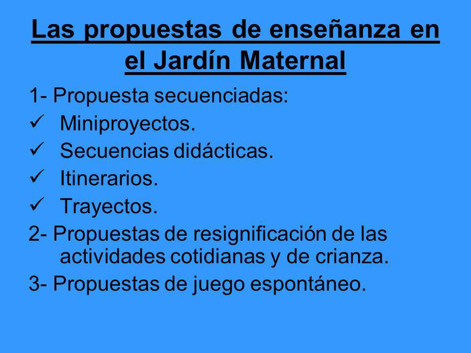 Las propuestas de enseñanza en el Jardín Maternal