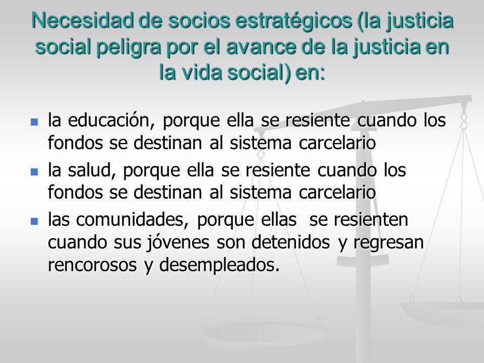 Necesidad de socios estratégicos (la justicia social peligra por el avance de la justicia en la vida social) en: