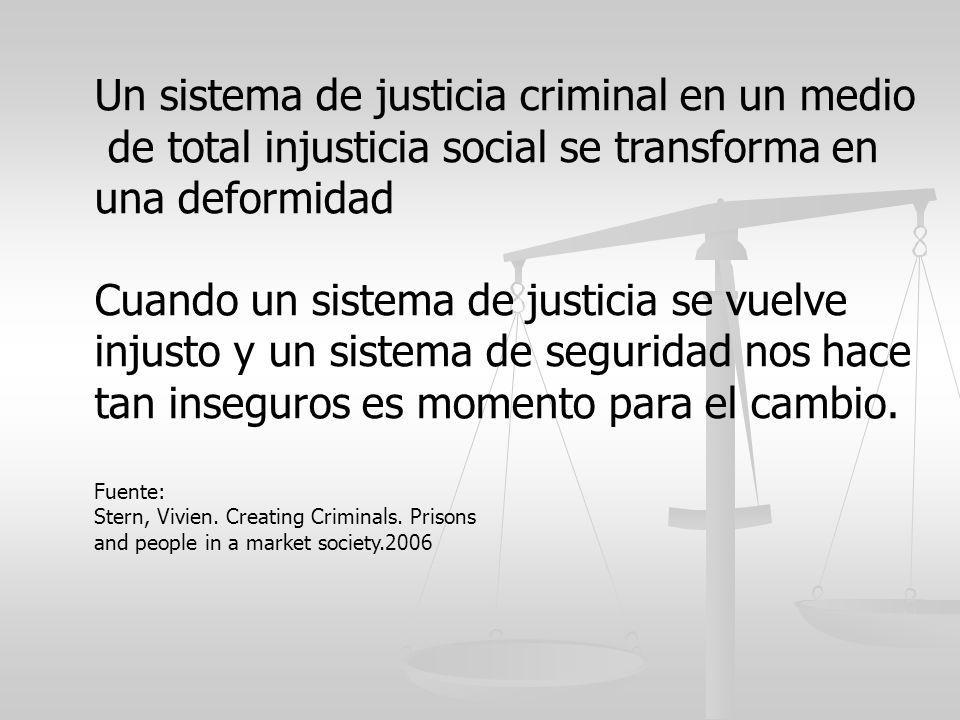 Un sistema de justicia criminal en un medio