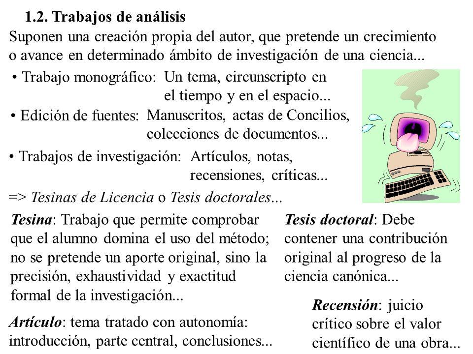 1.2. Trabajos de análisis