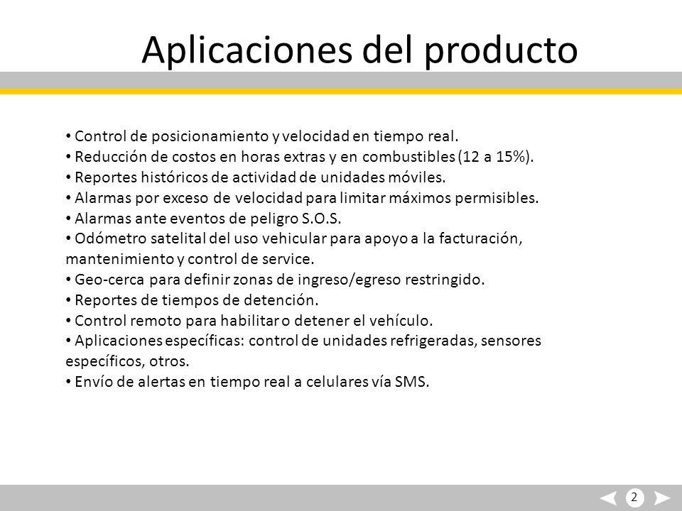 Aplicaciones del producto