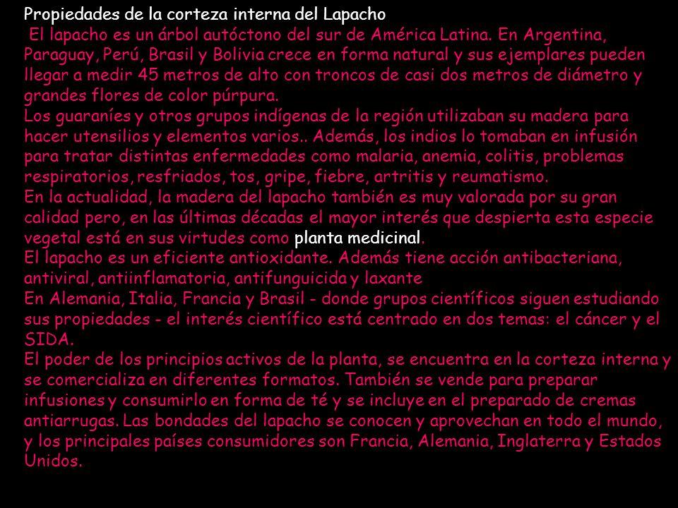 Propiedades de la corteza interna del Lapacho