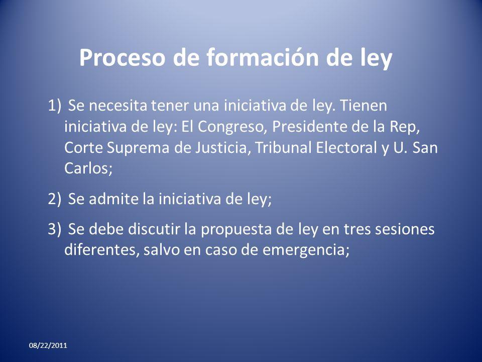 Proceso de formación de ley