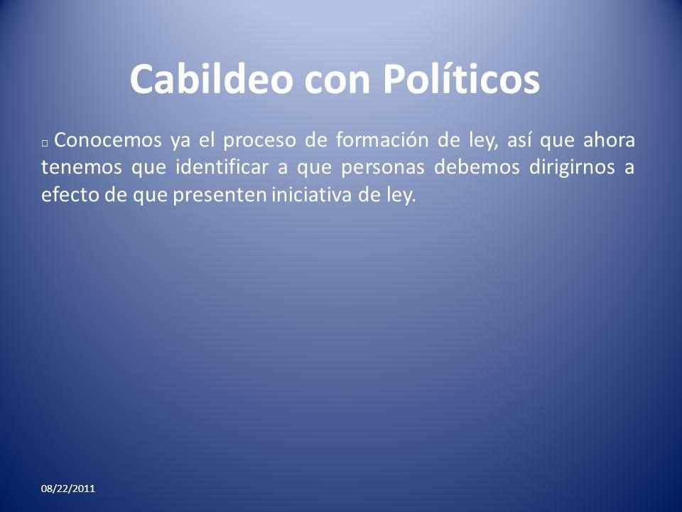 Cabildeo con Políticos