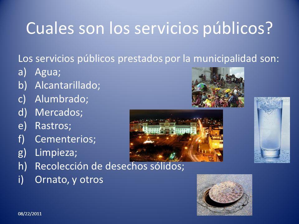 Cuales son los servicios públicos