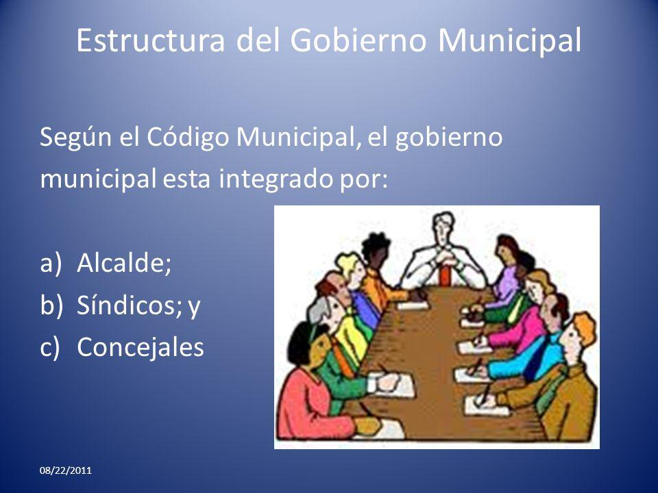 Estructura del Gobierno Municipal