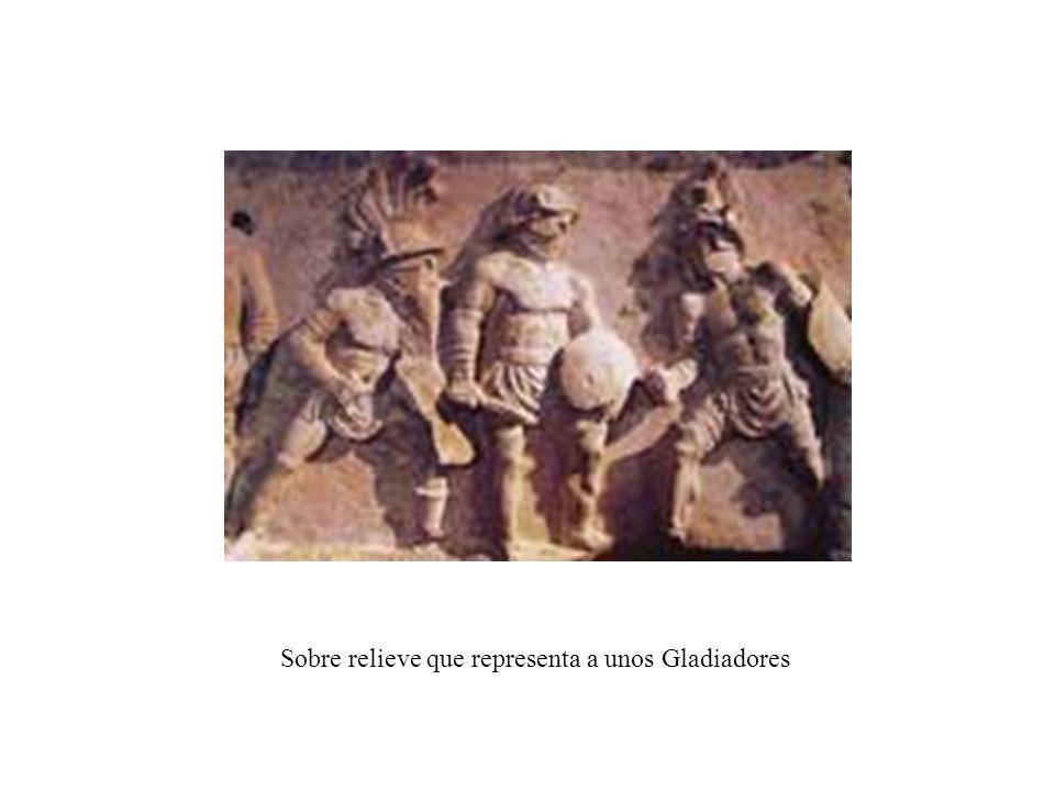 Sobre relieve que representa a unos Gladiadores
